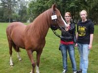 """Christine Theile und Anna Dornseifer mit dem Pferd """"Donna"""""""